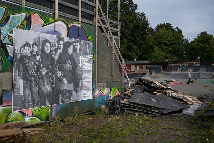#Dysturb - outdoor paste-up exhibition in Horten