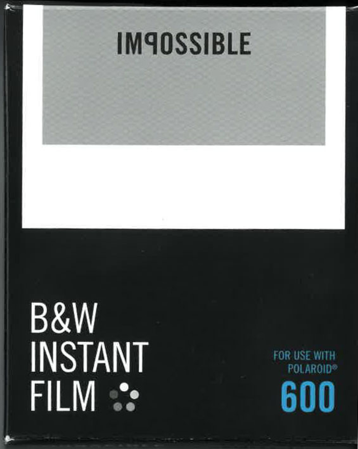 Impossible Project Polaroid Instant svart/hvit  film for 600-kameraer