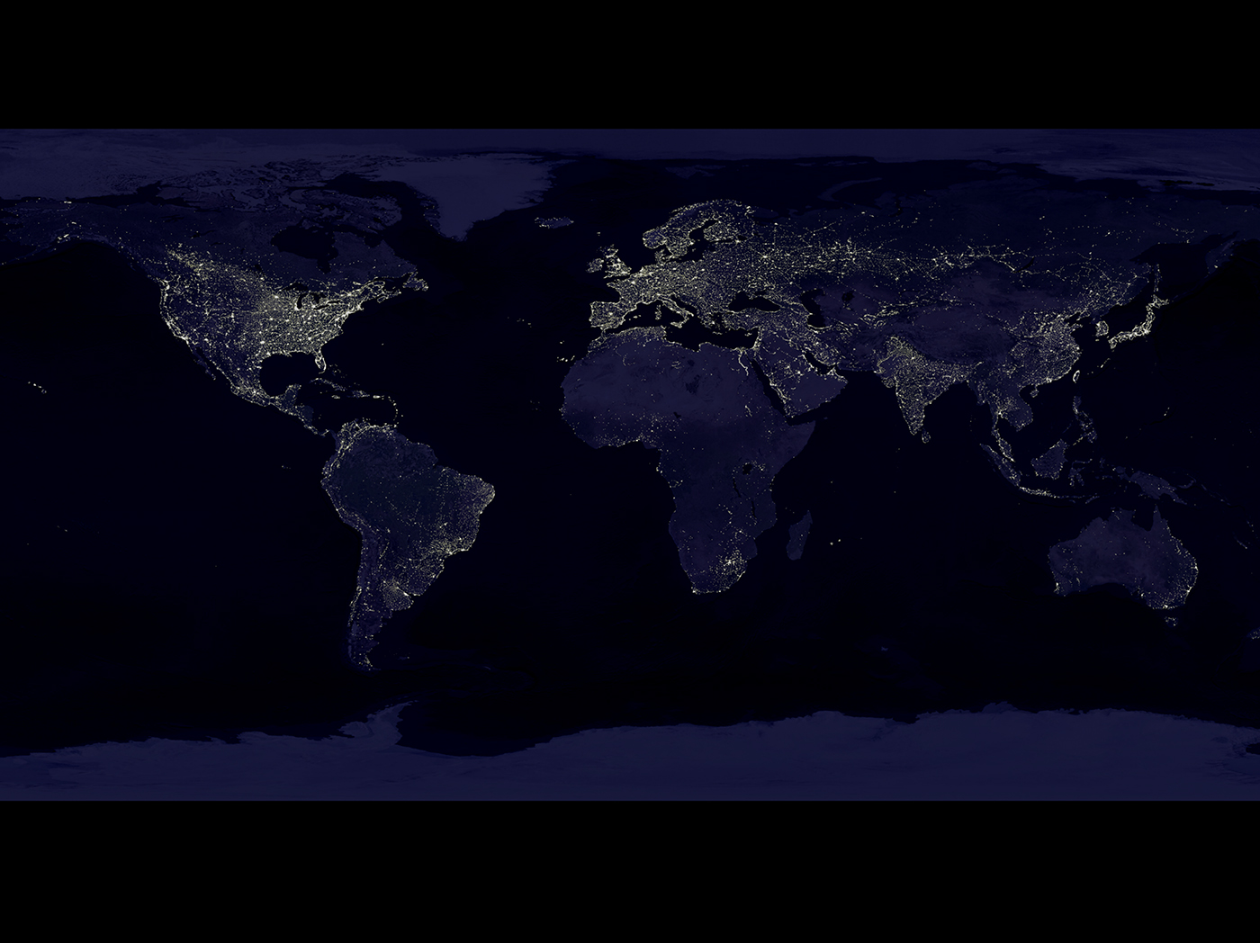 The Nighttime Lights of the World